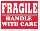 LBL02FRG - FRAGILE HANDLE WITH CARE - 4 X 3