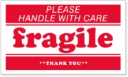 LBL03FRG - PLEASE HANDLE WITH CARE FRAGILE THANK YOU - 5 X 3