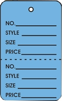 LG COUPON TAG, PRINTED, NO STRING, DARK BLUE