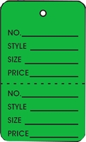 LG COUPON TAG, PRINTED, NO STRING, DARK GREEN