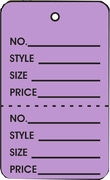LG COUPON TAG, PRINTED, NO STRING, LAVENDER