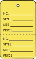 LG COUPON TAG, PRINTED, NO STRING, YELLOW