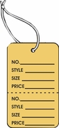LG COUPON TAG, PRINTED, STRUNG, BUFF