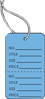 LG COUPON TAG, PRINTED, STRUNG, DARK BLUE