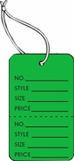 LG COUPON TAG, PRINTED, STRUNG, DARK GREEN