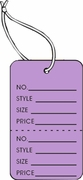 LG COUPON TAG, PRINTED, STRUNG, LAVENDER