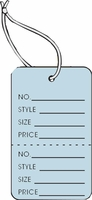 LG COUPON TAG, PRINTED, STRUNG, LT BLUE
