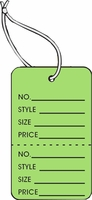 LG COUPON TAG, PRINTED, STRUNG, LT GREEN