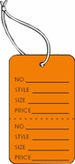 LG COUPON TAG, PRINTED, STRUNG, ORANGE