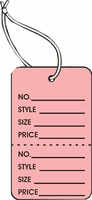 LG COUPON TAG, PRINTED, STRUNG, PINK