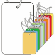 LG COUPON TAGS, BLANK, VARIOUS COLORS