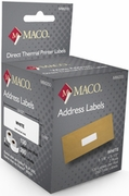 MACO® DIRECT THERMAL WHITE ADDRESS LABELS 1 1/8 X 3 1/2 - 260/rl