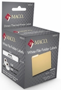 MACO® DIRECT THERMAL WHITE FILE FOLDER LABELS 9/16 X 3 7/16 - 130/rl