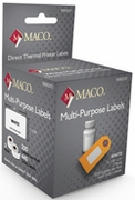 MACO® DIRECT THERMAL WHITE MULTI-PURPOSE LABELS 7/16 X 1 1/2 - 300/rl