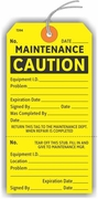 MAINTENANCE CAUTION TAG