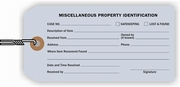 MISCELLANEOUS PROPERTY IDENTIFICATION TAGS - LIGHT BLUE