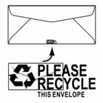 "No. 10 - 4 1/8 x 9 1/2, ""Please Recycle"" logo"