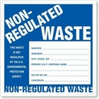 NON-REGULATED WASTE LABELS