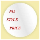 NUMBER STYLE PRICE STICKER