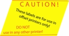 Offset Printing Labels
