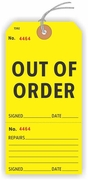 EM392YL OUT OF ORDER TAG