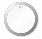 P14312 UNSTRUNG WHITE METAL RIM KEY TAG  7/8""