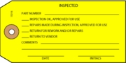 P15016 YELLOW INSPECTED TAG - 1,000 tags per box