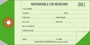 P15024 GREEN/LT.GREEN REPAIR/REWORK TAG (#s000-499)