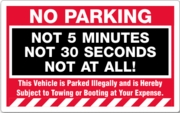 PARKING VIOLATION WITH REMOVABLE ADHESIVE