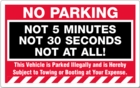 PK2057WH - NO PARKING NOT AT ALL - REMOVABLE