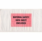 PL-MS-510, 5.5 X 10, MATERIAL SAFETY DATA SHEET ENCLOSED, BACK LOADING