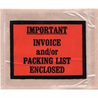 PL-TP-405, 4.5 x 5.5, IMPORTANT INVOICE and/or PACKING LIST ENCLOSED, BACK LOADING