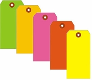 PLAIN FLUORESCENT SHIPPING TAGS