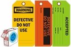 SAFETY AND INSPECTION TAGS BY THE ROLL!