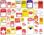 SALE TAGS IN MANY SIZES, COLORS AND STYLES