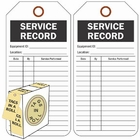 SERVICE RECORD - BLACK ON WHITE