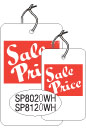 "SP8120WH 1 1/4 X 1 7/8 SALE TAG WHITE WITH RED INK ""Sale Price"" Strung"