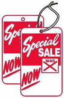 SPECIAL SALE TAG 1 3/4 X 2 7/8 STRUNG