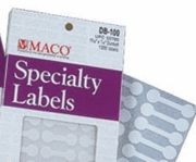 SPECIALTY LABELS ON SMALL SHEETS
