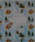 SS-43M SLEDDING SANTAS BUBBLE MAILERS (out of stock)