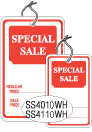 "SS4110WH 1 1/4 X 1 7/8 SALE TAG WHITE WITH RED INK ""SpclSale, RgPc, SpclPc"" Strung"