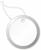 P14312 STRUNG WHITE METAL RIM KEY TAG  7/8""