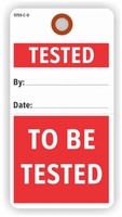 TESTED/TO BE TESTED TAG