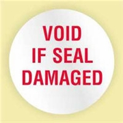 """VOID IF SEAL DAMAGED"" LABEL"