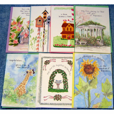 Assorted Deluxe Greeting--Pack Of 15 Cards