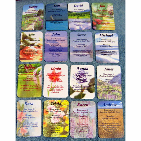 Bible Pocket First Name Cards