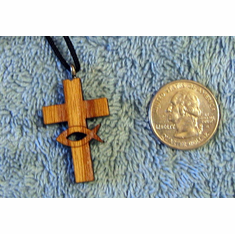 Christian Cross & Fish Pendent - 60B