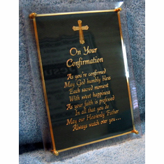 Confirmation Plaque