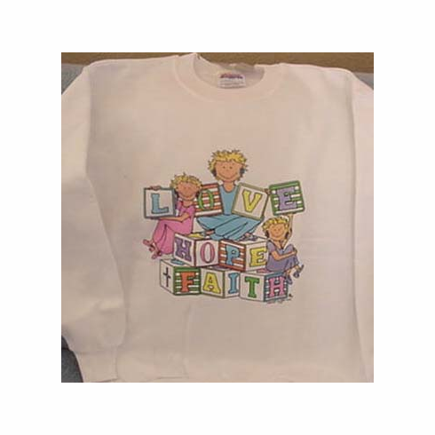 Faith Hope Love-Youth/ Child Sweatshirt