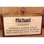 First Name Plaque--Wood